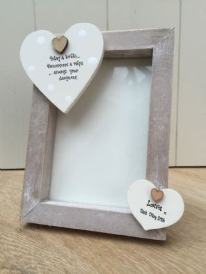 Shabby personalised Chic  Photo Frame Mother Of The Bride Wedding Day Gift